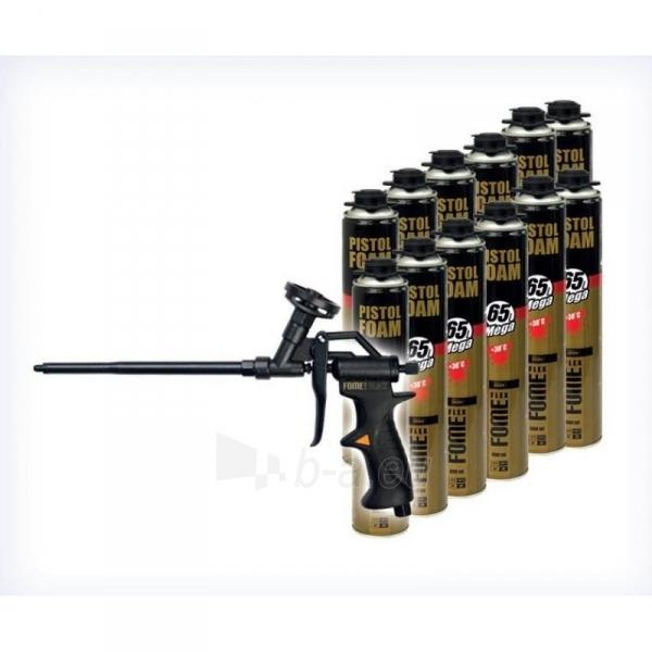 Montavimo putų komplektas FOME Flex 12 vnt. + pistoletas Paveikslėlis 1 iš 1 310820015155