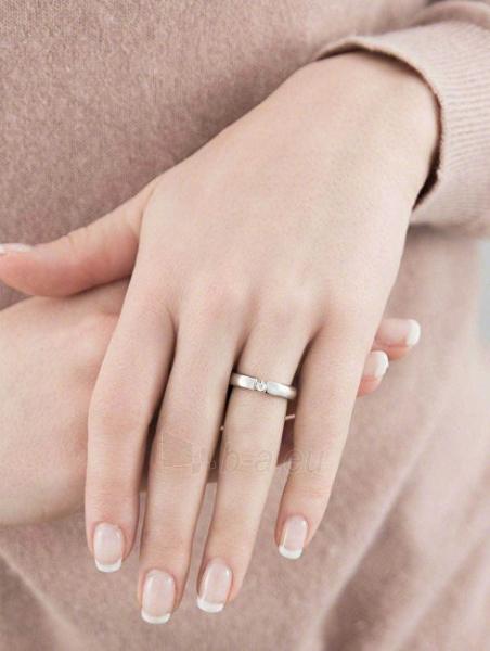 Morellato nerūdijančio plieno žiedas su deimantu Love Rings S8532 (Dydis: 61 mm) Paveikslėlis 2 iš 2 310820023350