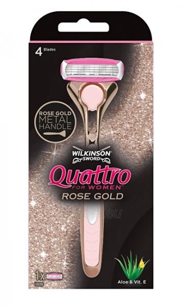 Moterims skirtas skustuvas Wilkinson Sword Wilkinson Quattro Rose Gold Paveikslėlis 1 iš 2 310820220179