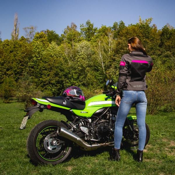 Moteriška moto striukė su apsaugomis W-TEC Monaca Paveikslėlis 4 iš 14 310820218038