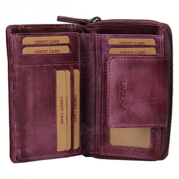 Moteriška piniginė Lagen 931/D Plum Paveikslėlis 4 iš 7 310820225353