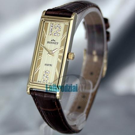 Moteriškas laikrodis BISSET Quaracit BS25B85 LG GD BR Paveikslėlis 1 iš 6 30069505719