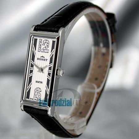 Moteriškas laikrodis BISSET Quaracyt BS25B85 LS WH BK Paveikslėlis 1 iš 6 30069505720