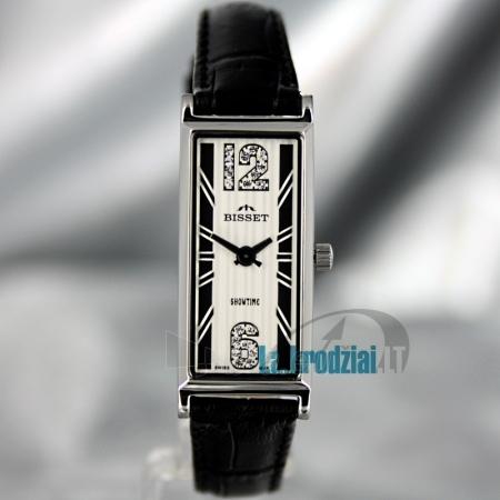 Moteriškas laikrodis BISSET Quaracyt BS25B85 LS WH BK Paveikslėlis 2 iš 6 30069505720
