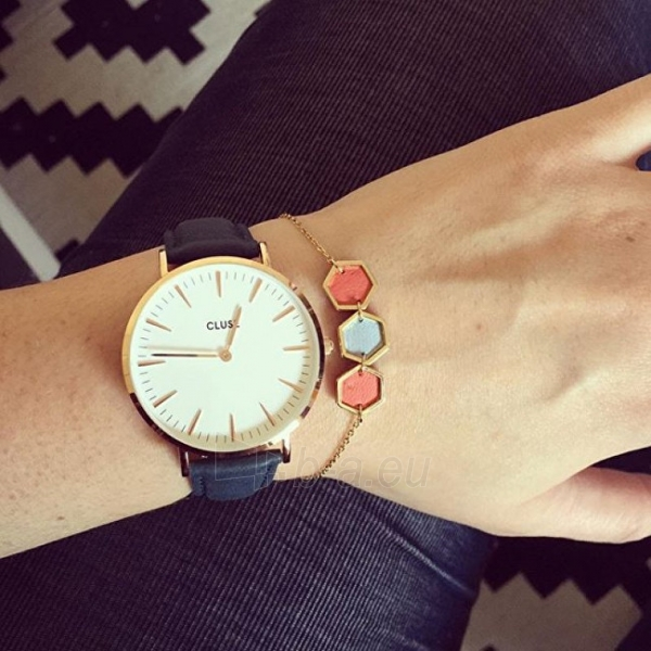 Moteriškas laikrodis Cluse La Bohème Gold White/Black Paveikslėlis 3 iš 7 310820116567
