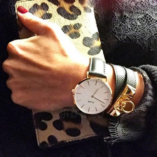 Moteriškas laikrodis Cluse La Bohème Gold White/Black Paveikslėlis 4 iš 7 310820116567
