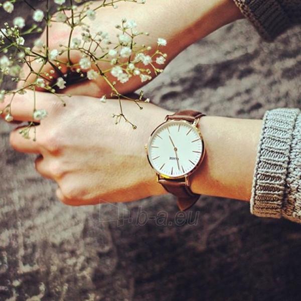 Moteriškas laikrodis Cluse La Bohème Gold White/Brown Paveikslėlis 3 iš 7 310820116568
