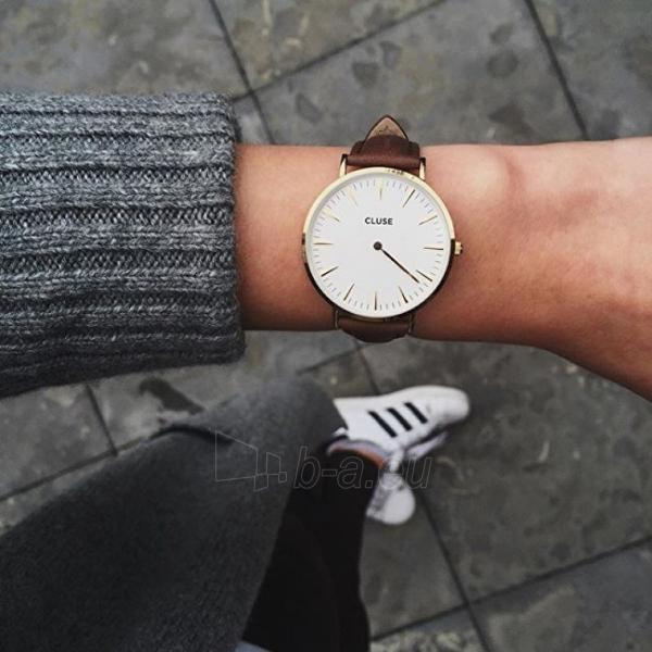 Moteriškas laikrodis Cluse La Bohème Gold White/Brown Paveikslėlis 4 iš 7 310820116568