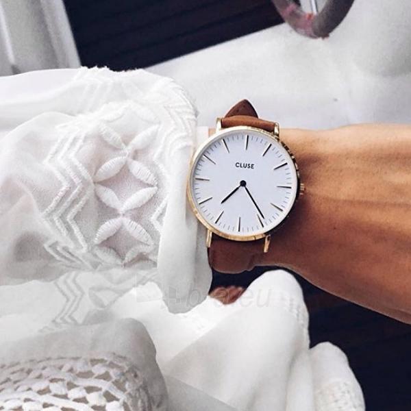 Moteriškas laikrodis Cluse La Bohème Gold White/Brown Paveikslėlis 5 iš 7 310820116568