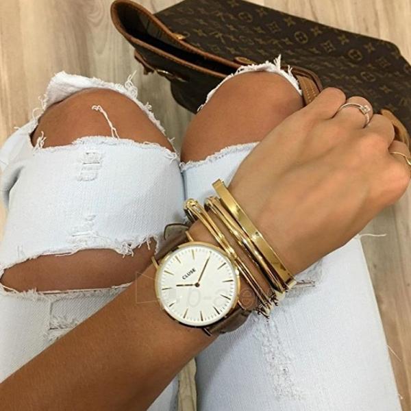 Moteriškas laikrodis Cluse La Bohème Gold White/Brown Paveikslėlis 6 iš 7 310820116568