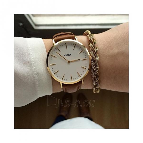 Moteriškas laikrodis Cluse La Bohème Gold White/Brown Paveikslėlis 7 iš 7 310820116568