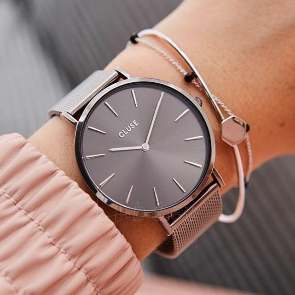 Moteriškas laikrodis Cluse La Bohème Mesh Dark Grey CL18121 Paveikslėlis 2 iš 5 310820155844