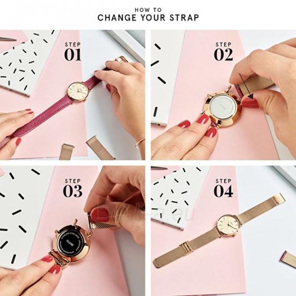 Moteriškas laikrodis Cluse La Bohème Rose Gold White/Flamingo CL18032 Paveikslėlis 3 iš 6 310820155711