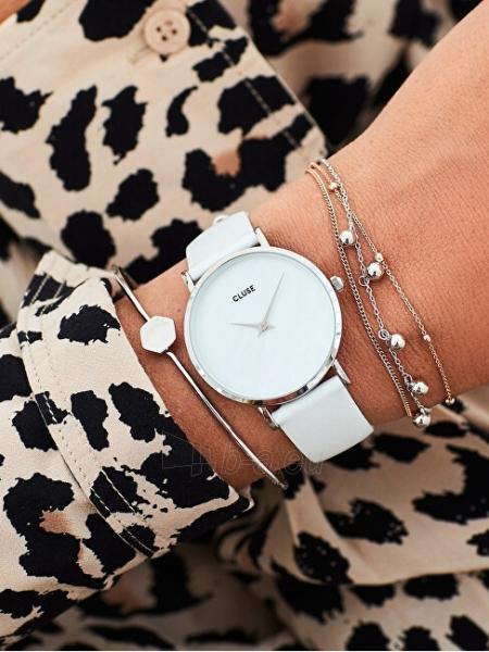 Sieviešu pulkstenis Cluse Minuit La Perle Silver White Pearl/White CL30060 Paveikslėlis 2 iš 6 310820178879