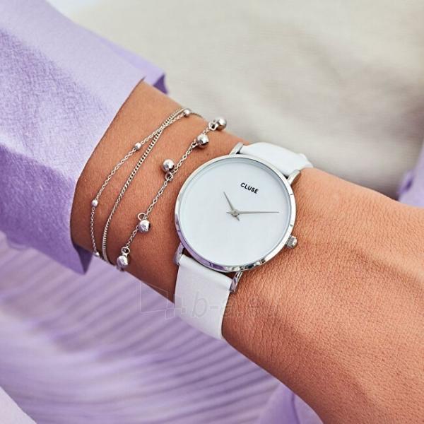 Sieviešu pulkstenis Cluse Minuit La Perle Silver White Pearl/White CL30060 Paveikslėlis 3 iš 6 310820178879