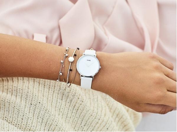 Sieviešu pulkstenis Cluse Minuit La Perle Silver White Pearl/White CL30060 Paveikslėlis 4 iš 6 310820178879