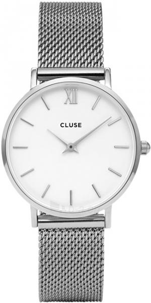 Moteriškas laikrodis Cluse Minuit Mesh Silver/White Paveikslėlis 1 iš 9 310820116547