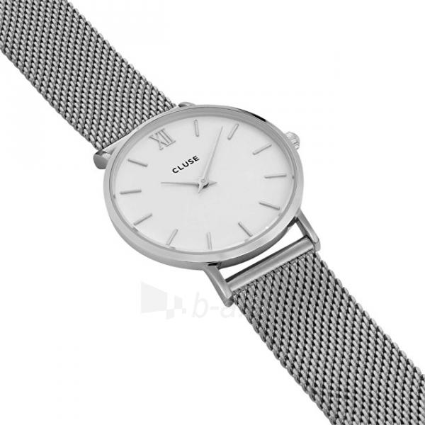 Moteriškas laikrodis Cluse Minuit Mesh Silver/White Paveikslėlis 3 iš 9 310820116547