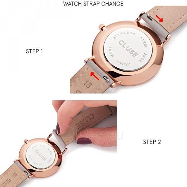 Moteriškas laikrodis Cluse Minuit Mesh Silver/White Paveikslėlis 4 iš 9 310820116547