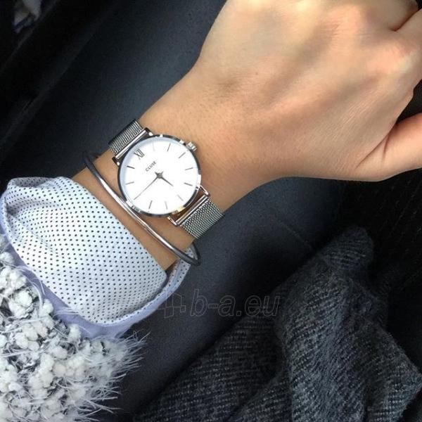 Moteriškas laikrodis Cluse Minuit Mesh Silver/White Paveikslėlis 6 iš 9 310820116547