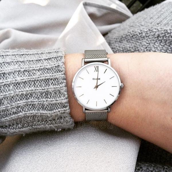 Moteriškas laikrodis Cluse Minuit Mesh Silver/White Paveikslėlis 7 iš 9 310820116547