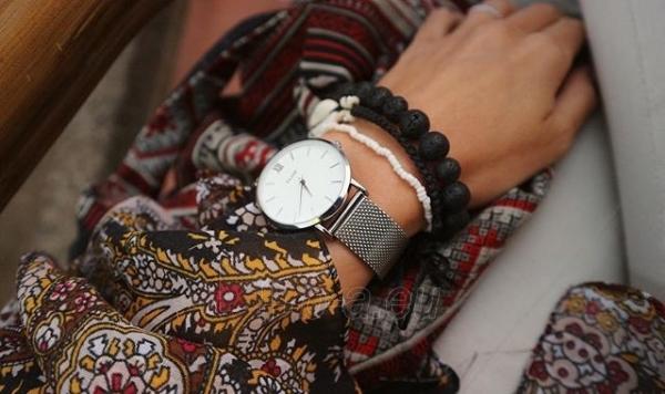 Moteriškas laikrodis Cluse Minuit Mesh Silver/White Paveikslėlis 9 iš 9 310820116547