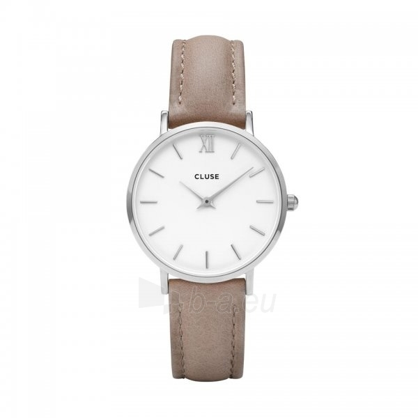 Moteriškas laikrodis Cluse Minuit Silver White/Hazelnut CL30044 Paveikslėlis 1 iš 6 310820153599
