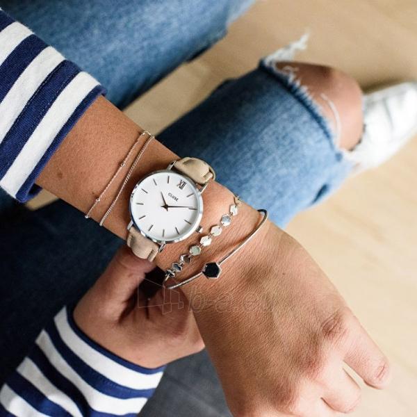 Moteriškas laikrodis Cluse Minuit Silver White/Hazelnut CL30044 Paveikslėlis 5 iš 6 310820153599