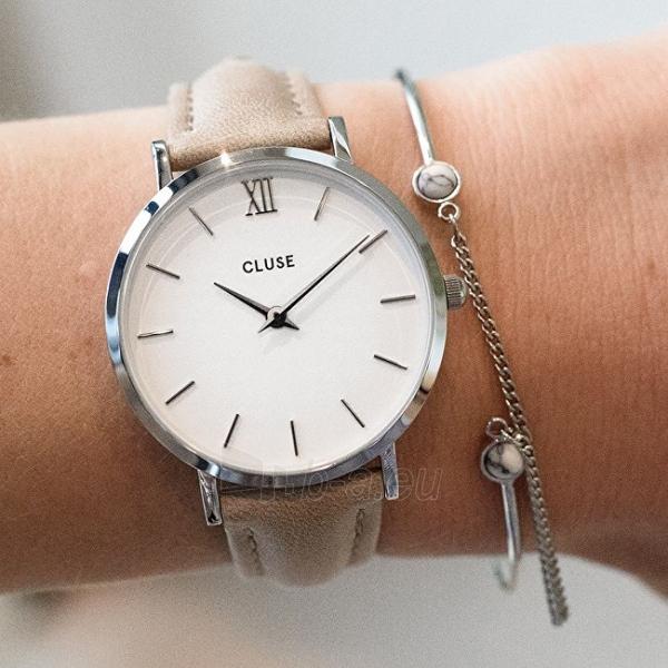 Moteriškas laikrodis Cluse Minuit Silver White/Hazelnut CL30044 Paveikslėlis 6 iš 6 310820153599