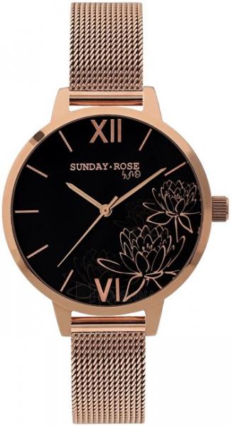 Moteriškas laikrodis JVD Sunday Rose Black Lotus Paveikslėlis 1 iš 4 310820172618