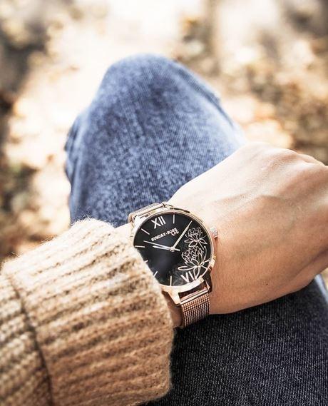 Moteriškas laikrodis JVD Sunday Rose Black Lotus Paveikslėlis 2 iš 4 310820172618