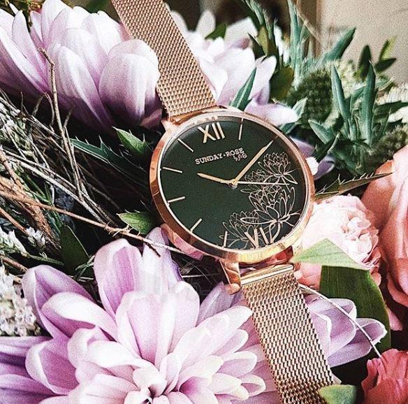 Moteriškas laikrodis JVD Sunday Rose Black Lotus Paveikslėlis 4 iš 4 310820172618