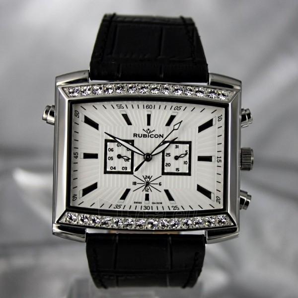 Moteriškas laikrodis RUBICON RN10B22 LS WH BK Paveikslėlis 3 iš 8 30069508411