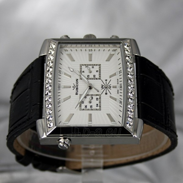 Moteriškas laikrodis RUBICON RN10B22 LS WH BK Paveikslėlis 4 iš 8 30069508411