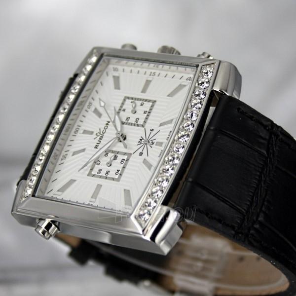Moteriškas laikrodis RUBICON RN10B22 LS WH BK Paveikslėlis 5 iš 8 30069508411