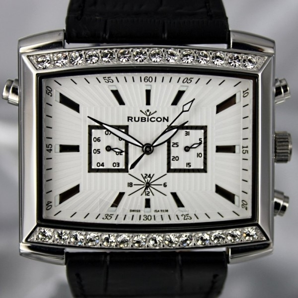 Moteriškas laikrodis RUBICON RN10B22 LS WH BK Paveikslėlis 8 iš 8 30069508411
