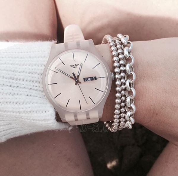 Moteriškas laikrodis Swatch Rose Rebel SUOT700 Paveikslėlis 6 iš 7 310820116338