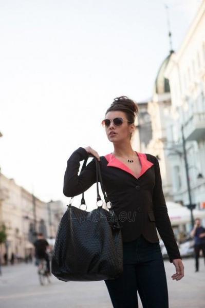 Moteriškas švarkas Lai (juodos spalvos) Paveikslėlis 1 iš 4 310820047046