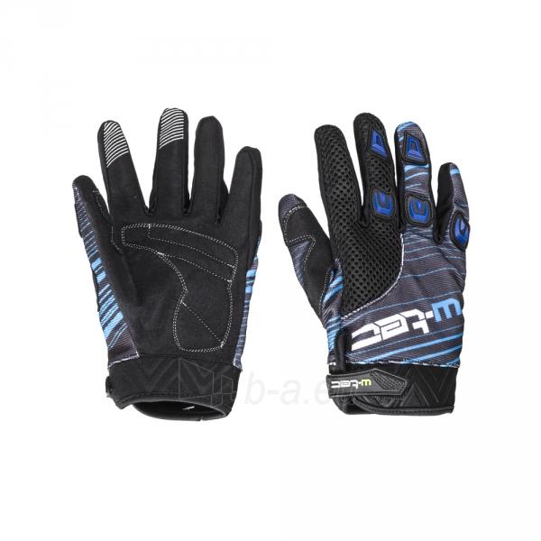 Motociklininko Pirštinės W-TEC NF-5301, Mėlyna - Juoda, L dydis Paveikslėlis 1 iš 1 310820253945