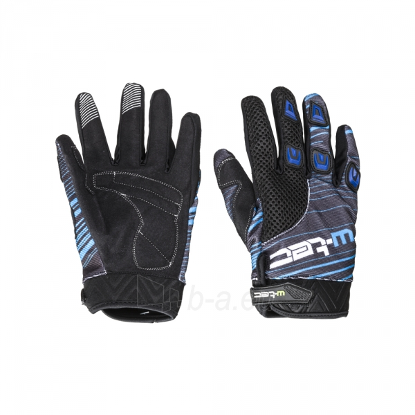 Motociklininko pirštinės W-TEC NF-5301, Spalva mėlyna, Dydis L Paveikslėlis 1 iš 4 310820242208