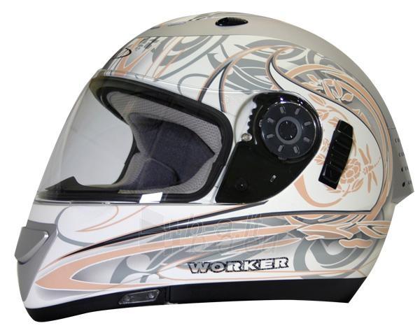 Motociklininko šalmas inSPORTline Paveikslėlis 1 iš 1 30093000034