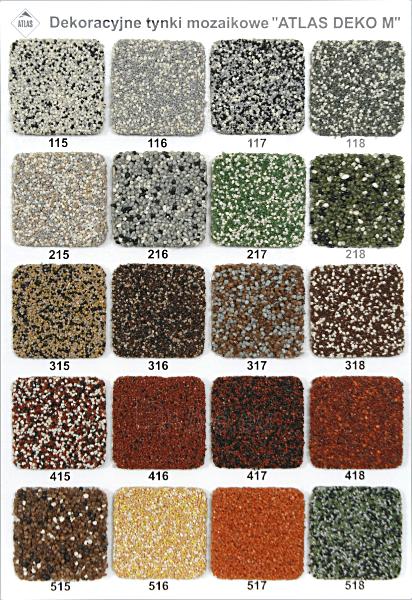 Decorative mosaic render DEKO M 312, 25kg Paveikslėlis 3 iš 4 236760100336