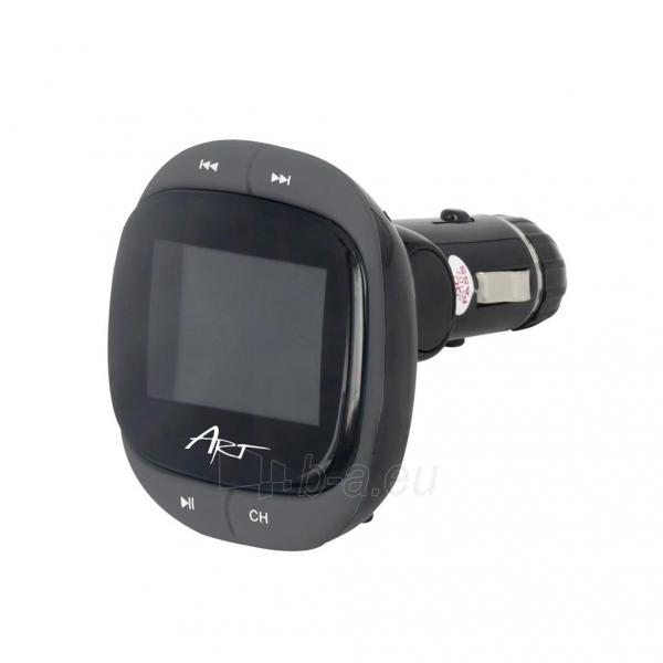 ART CAR TRANSMITER FM MP3 display 1.4 RDS remote control USB/SD/MMC FM-01F Paveikslėlis 1 iš 3 310820013711