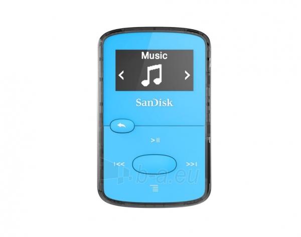 Sandisk CLip Jam MP3 Player 8GB, microSDHC, Radio FM, Blue Paveikslėlis 1 iš 3 250218000436