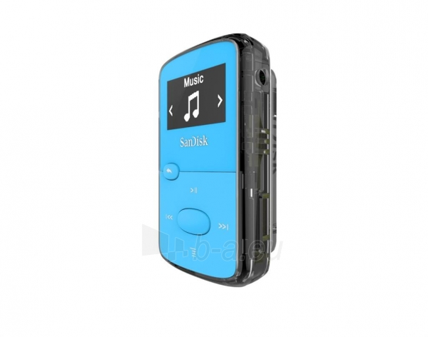 Sandisk CLip Jam MP3 Player 8GB, microSDHC, Radio FM, Blue Paveikslėlis 2 iš 3 250218000436