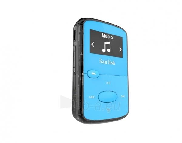 Sandisk CLip Jam MP3 Player 8GB, microSDHC, Radio FM, Blue Paveikslėlis 3 iš 3 250218000436