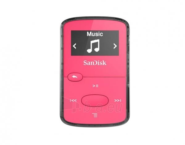 Sandisk CLip Jam MP3 Player 8GB, microSDHC, Radio FM, Pink Paveikslėlis 1 iš 3 250218000439