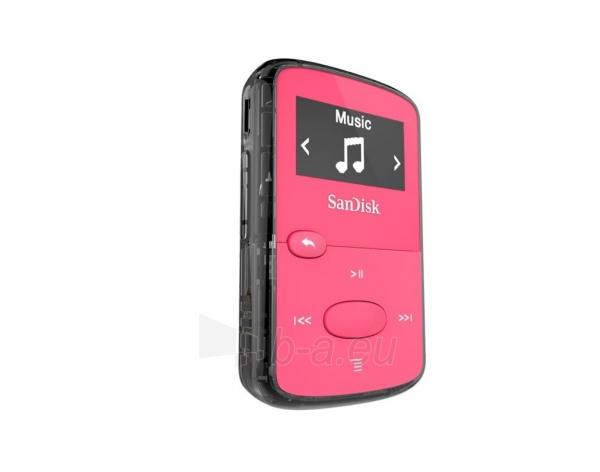 Sandisk CLip Jam MP3 Player 8GB, microSDHC, Radio FM, Pink Paveikslėlis 2 iš 3 250218000439