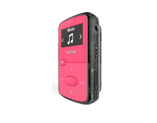 Sandisk CLip Jam MP3 Player 8GB, microSDHC, Radio FM, Pink Paveikslėlis 3 iš 3 250218000439