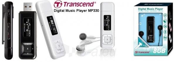 MP3 grotuvas Transcend MP330 8GB Juodas, FM radijas, 1 OLED ekranas Paveikslėlis 1 iš 1 250218000414